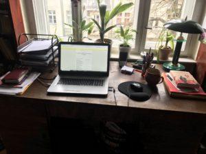 Gabriele Jähnerts Schreibtisch