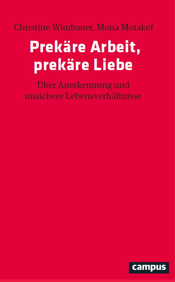 """Buchcover """"Prekäre Arbeit, prekäre Liebe"""" - Campus Verlag"""