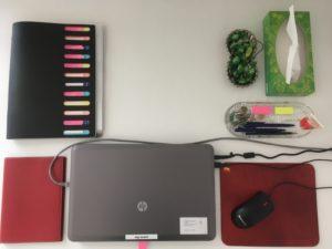 Ilona Paches Schreibtisch