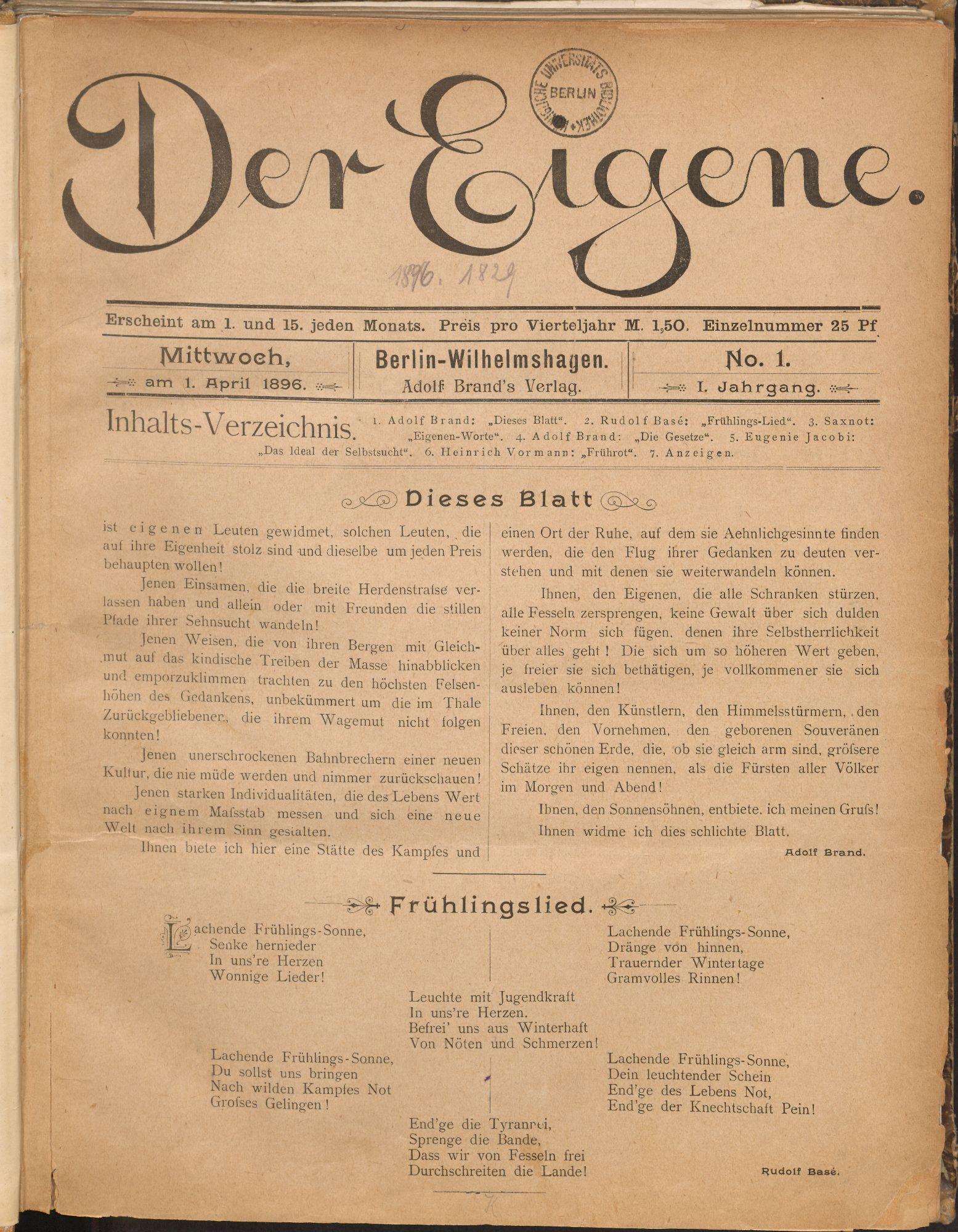 Queer-jüdische Diasporaentwürfe in den Zeitschriften der ersten Homosexuellenbewegung