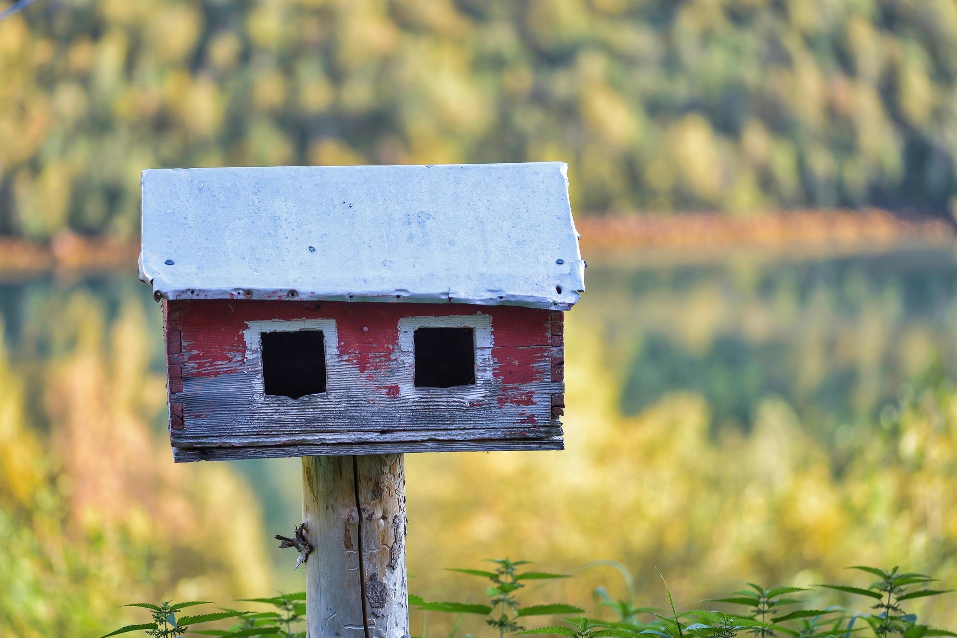 Foto eines Vogelhauses