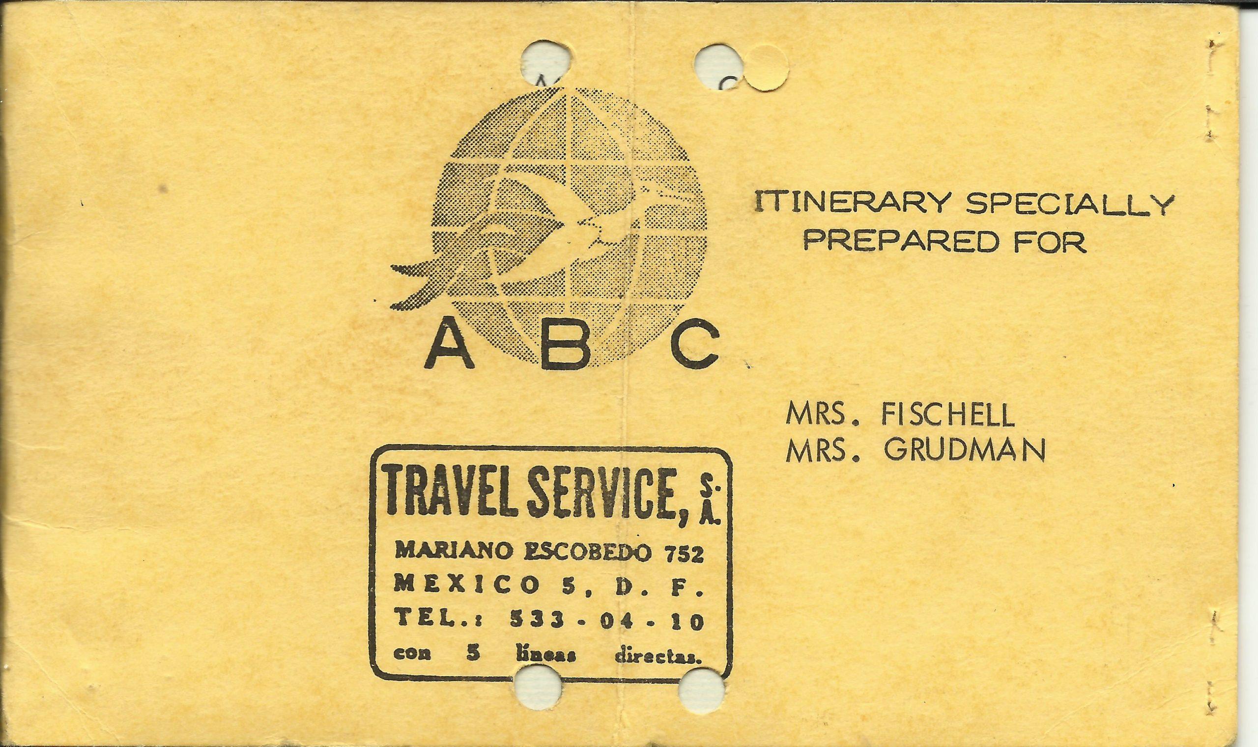 Abbildung: Reiseschein Itinerary Mexico